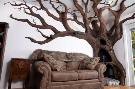 The Living Room Or Not Cat by That S Cool Builds Realistic Tree In Living Room For