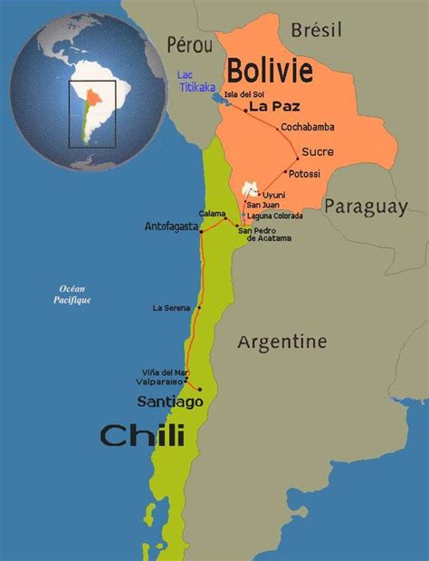 Santiago Du Chili Carte Du Monde by Bolivia Un An Au Chili