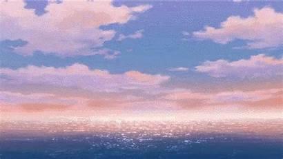 Sunset Anime Calm Ocean Reblog O19 Artwork