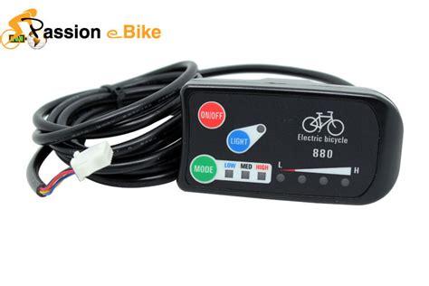 free shipping 24v 36v 48v ebike intelligent led 880 panel display electric bicycle bike