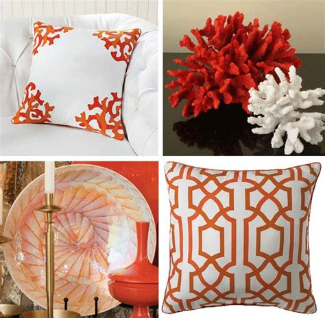 coral colored decorative accents coral reef decor home design