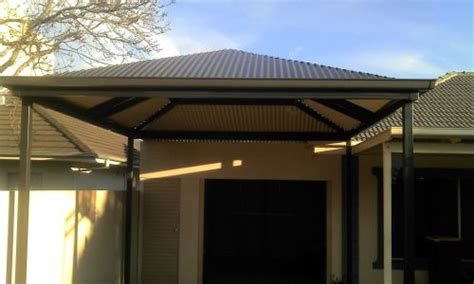 hip roof carport plans style hip roof verandah carport pergola and patio