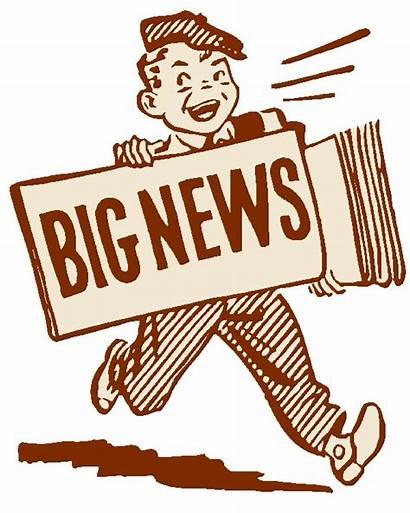 Newspaper Clip Clipart Personal Press Headlines Clipartix