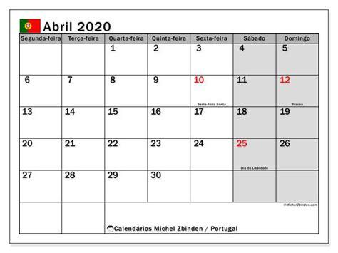 calendario abril  portugal calendario julho
