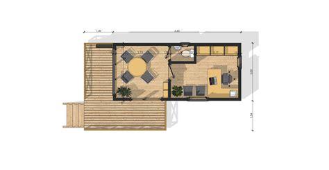 bureau plan module bureau de jardin ossature bois de 20 m modulob