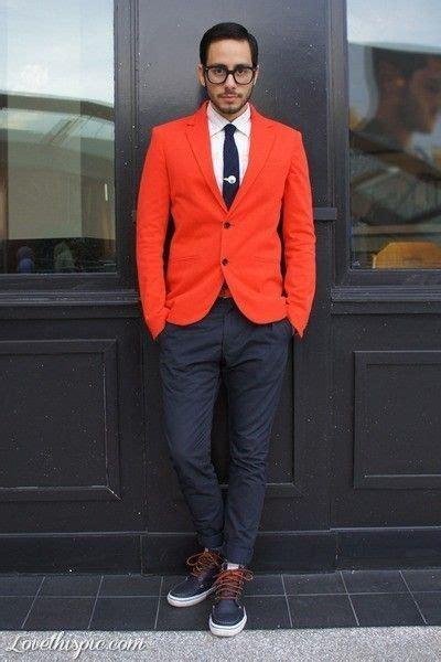 Bold look - Orange jacket and Navy pants #menswear | Menu0026#39;s Style I Dig | Pinterest | Fashion men ...