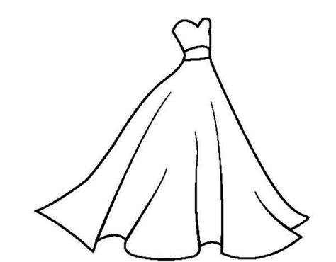 Coloring Pages Of Wedding Dresses Printable For Kids 2018