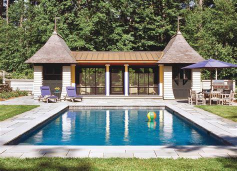 pool house plans pool houses custom home magazine design vacation