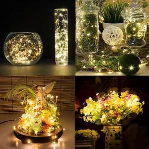 Deko Mit Lichterketten : 100 leds warmwei lichterketten mit 10 meter partylicht garten beleuchtung deko ebay ~ Eleganceandgraceweddings.com Haus und Dekorationen