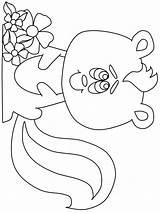 Coloring Skunk Sun Simple Coloringpagebook Mouffette Mouflette Printable Ludinet Olaf Frozen Shapes Skunks Imprimer Transportation Animals Coloringanddrawings sketch template