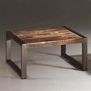 Table Basse Bois Et Metal : best 20 meuble acier ideas on pinterest etagere bois et ~ Dallasstarsshop.com Idées de Décoration