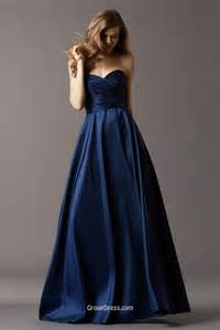 navy dresses for wedding navy blue taffeta strapless sweetheart neck bridesmaid gown groupdress