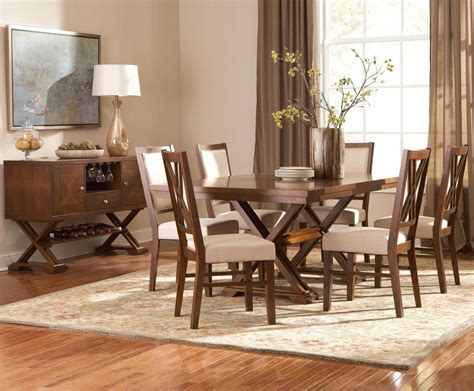 Garrison Medium Cherry Wood Dining Table Set Steala