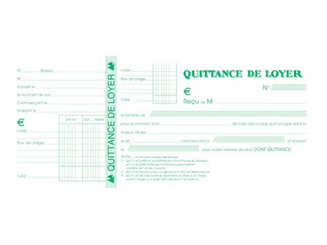 fourniture bureau exacompta manifold de quittances de loyer 50 feuilles