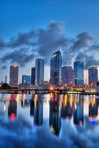 Downtown Tampa Hdr Reflected Vertical