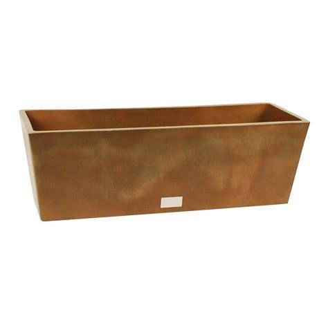 home depot planter box veradek window box 18 in w x 18 in h bronze rectangular