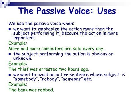 My English Blackboard The Passive Voice