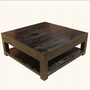 yonder years rustic reclaimed wood large square coffee With oversized square wood coffee table