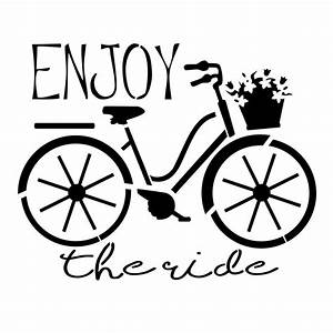 "Designer Stencils ""Enjoy the Ride"" Bicycle Stencil-FS050"