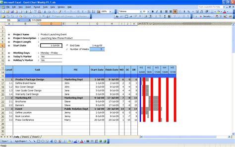 excel gantt chart template  excel spreadsheet gantt