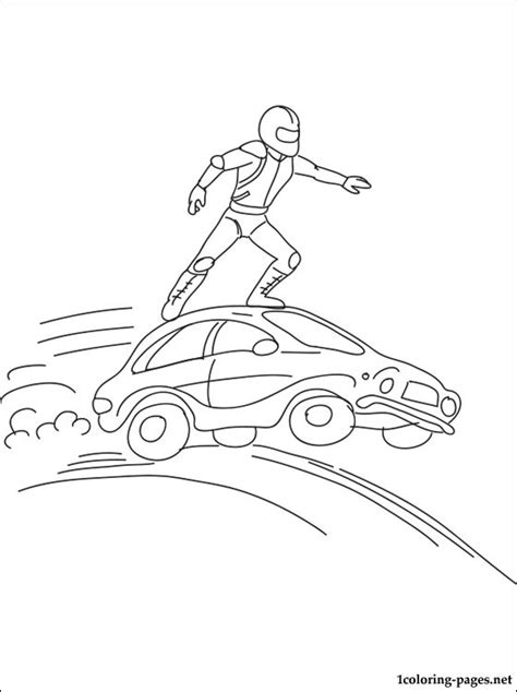 stunt performer coloring page coloring pages