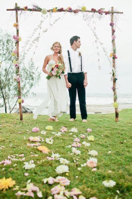 Bohemian Beach Wedding Styled Ceremony The Brides Tree