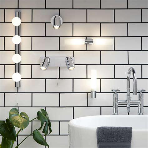 astro bari bathroom wall light at lewis