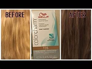 Wella Color Charm Toner Chart Wella T35 Toner On Bleached Hair Youtube