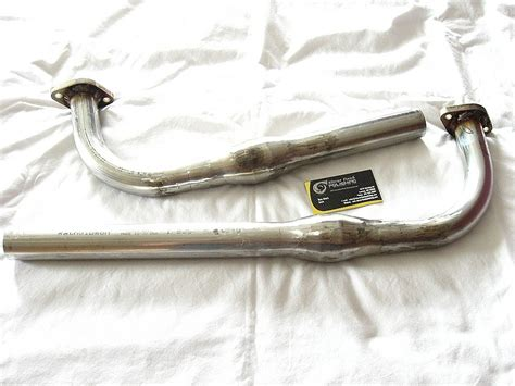 Motorcycle Exhaust Pipes After Custom Metal Polishing
