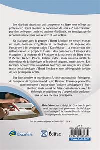 L U2019amour De La Sagesse Hommage  U00e0 Henri Blocher  U2013 Excelsis
