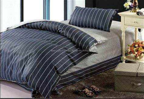 mens bed set blue plaid king size cotton bedding sets