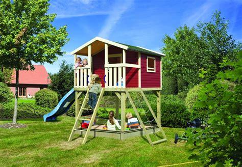 kinderspielhaus mit sandkasten kinder stelzenhaus karibu 171 hochburg 187 spielhaus holz ebay