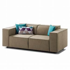Sofa 2 Sitzer Grau : sofa kinx 2 sitzer webstoff keine funktion stoff milan grau braun kinx online kaufen bei ~ Markanthonyermac.com Haus und Dekorationen