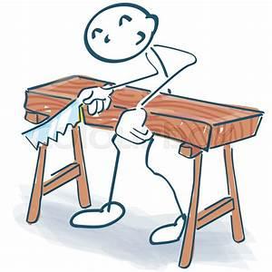 Dicke Holzbalken Sägen : strichm nnchen als handwerker das ein dickes bett s gt vektorgrafik colourbox ~ Yasmunasinghe.com Haus und Dekorationen