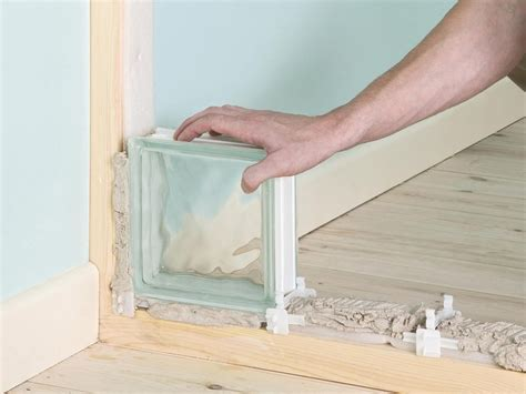 How To Build A Glass Block Wall Pinterest