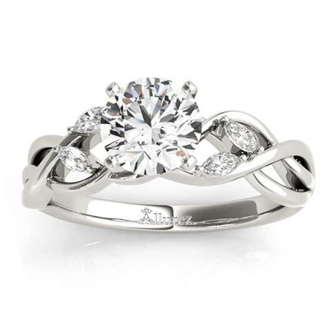 diamond marquise vine leaf engagement ring setting 14k white gold 0 20ct ng1569