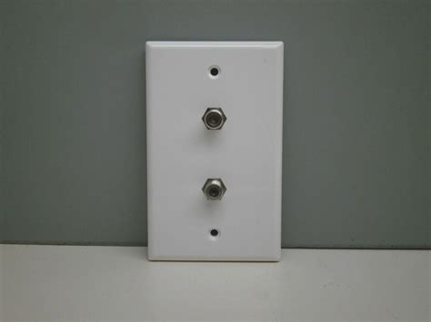 Tv Plate Tv Coax Coaxial Cable Wall Plate Ebay