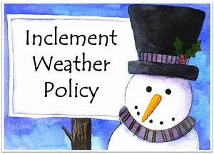february 2016 messiah newsletter With inclement weather policy template