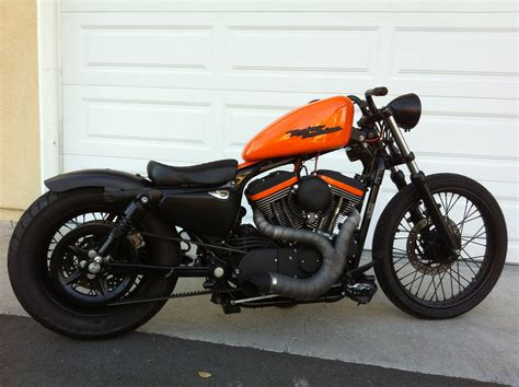 Harley Sportster Bobber Riding Vid