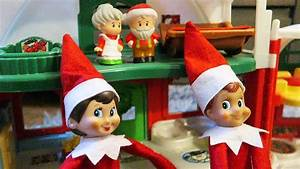 Elf On The Shelf Visits Santa And Mrs Claus Day 12 Youtube