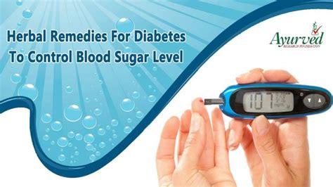 herbal remedies  diabetes  control blood sugar