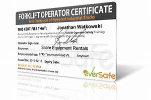 free download forklift certification card fighterogon With forklift licence template