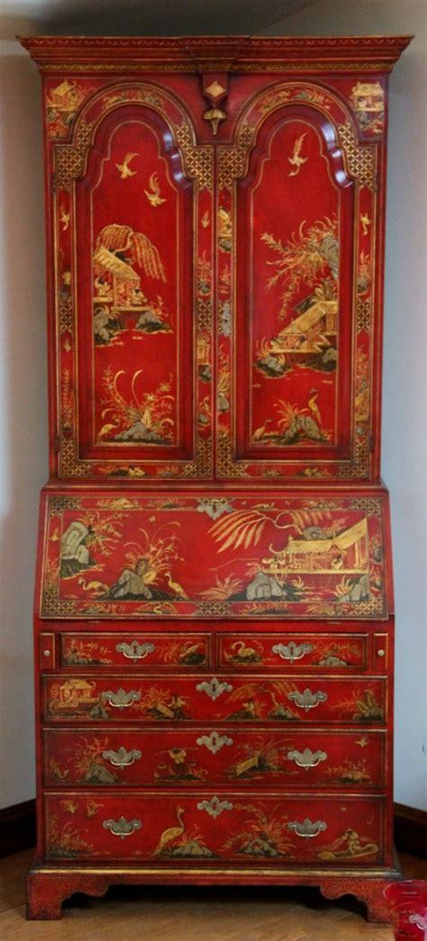 early  century style bureau bookcase  cabinet top