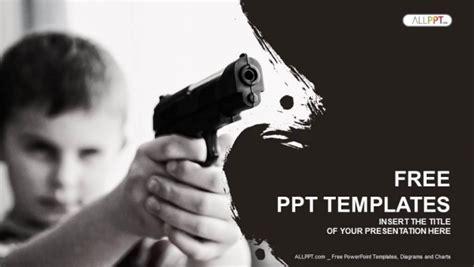 boy   black pistol powerpoint templates