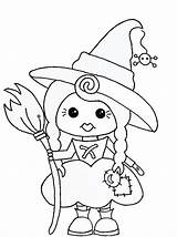 Witch Stamps Coloring Digital Digi Halloween Stamp Pages Printable Crafts Cute Preschoolactivities Play Pixie Drawings Dust Studio Preschool Worksheets Kleurplaten sketch template