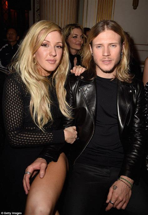 Ellie Goulding and Dougie Poynter at Versace show at Paris ...