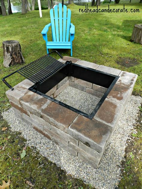 simple brick pit easy diy pit kit with grill can decorate