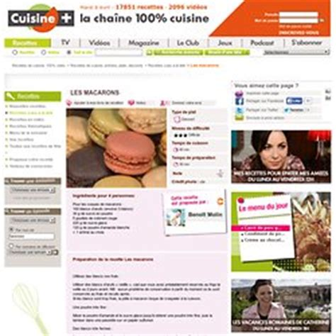 cuisine tv recettes italiennes macarons recettes pearltrees