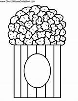 Popcorn Template Coloring Printable Kernel Clipart Pages Pop Bucket Bible Open Cutout Craft Clip Cliparts Templates Bulletin Board Idea Fall sketch template
