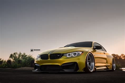 Auto Floor Mat by Austin Yellow Bmw M4 Widebody Photoshoot By Activfilms Tv
